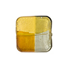 4 Colors Gold and Silver, Topaz, Gray 18mm, Vela Square, Murano Glass Bead