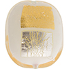 White Vicenza Gold and Silver Splashes Foil Cushion Rectangle 35x30mm, Murano Glass Bead