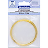 Memory Wire, Flat, Large Bracelet, Gold Plated, 0.35 oz (1 g), appx. 12 coils