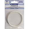 Memory Wire, Flat, Large Bracelet, Silver Plated, 0.35 oz (1 g), appx. 12 coils
