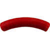 Opaque Red Curved Tube 40x8mm Murano Glass