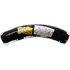Murano Glass Bead Curved Tube Vicenza Black Gold and Silver 40mm