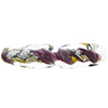Murano Glass Bead Twisted Tube Vicenza Viola Gold and Silver 40mm