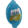 Turquoise Gold/Silver Vicenza Twist 30x18, Murano Glass Bead