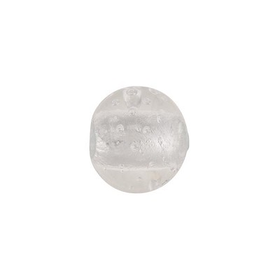 Venetian Bead Bollicine Round 12mm Crystal over Silver Foil