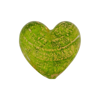 Peridot Ca'D'Oro Murano Glass Heart 17mm