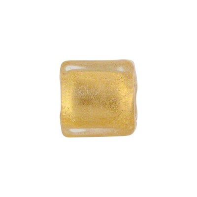 Clear Gold Foil Cube 12x12mm Murano Glass Bead Wholesale Venetian ...