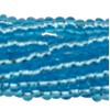 Aqua 13/0 Czech Seed Bead 6 Strand Hank 20 Inches