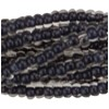 Denim Blue 13/0 Czech Seed Bead 6 Strand Hank 20 Inches