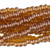 Pearlized Topaz 13/0 Czech Seed Bead 6 Strand Hank 20 Inches