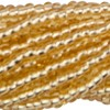 Gold 13/0 Czech Seed Bead 6 Strand Hank 20 Inches