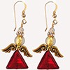 Red Gold Angel Earring Kit