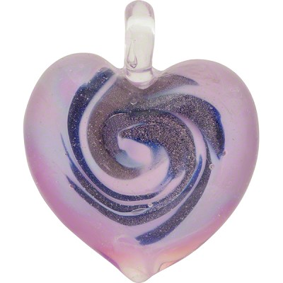 Lilac blue aventurina murano glass heart pendant wholesale lilac blue aventurina murano glass heart pendant lampwork mozeypictures Image collections