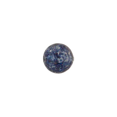 Luna (Dark Blue) Sommerso Style Murano Glass with Aventurina Round Bead, 8mm
