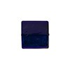 Blue Cobalt Gold Foil 14mm Square Venetian Bead
