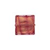 Rubino Gold Foil 14mm Square Venetian Bead