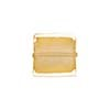 Clear Gold Foil 14mm Square Venetian Bead