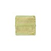 Light Peridot Gold Foil 14mm Square Venetian Bead