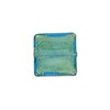 Aqua Gold Foil 14mm Square Venetian Bead