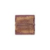Light Amethyst Murano Glass Gold Foil Square, 14mm