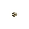 Swarovski 5328 3mm Xilion Faceted Bicone, Crystal Metallic Light Gold 2X