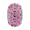 Swarovski BeCharmed Pav? Square Stone Bead, Light Amethyst