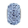 Swarovski BeCharmed Pav? Square Stone Bead, Light Sapphire