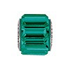 Swarovski BeCharmed Pave Baguette Stone Bead, Emerald