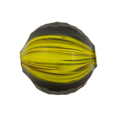 Black  & Yellow Sculpted 20mm Round Blown
