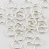 .925 Sterling Silver Locking Jump Ring, 20 ga, 4mm, Per Piece