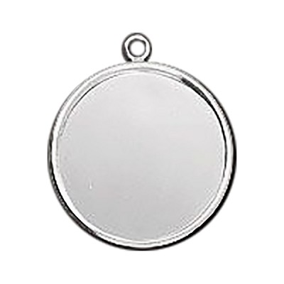 Silver Plated Base Metal Bezel Round 25mm