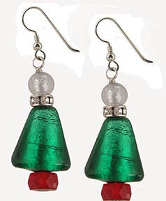 Christmas Tree Earring Kit Sterling Silver
