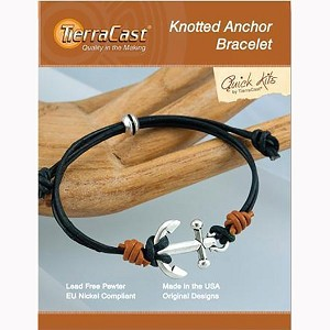 TierraCast Kit Leather Knotted Anchor Bracelet