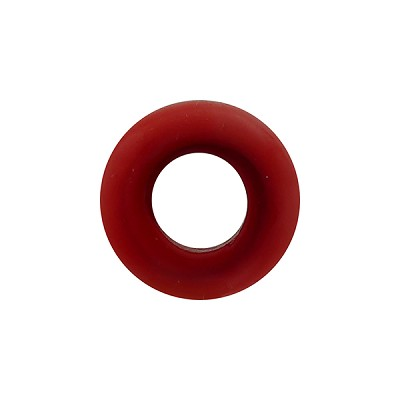 Orangey Red Rondelle 15X10mm 6mm Hole, Murano Glass Bead