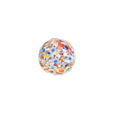 Murano Glass Bead Sommerso Round 10mm, Multi Bright Colors