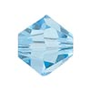 Swarovski 5328 8mm XILION Faceted Bicone, Aquamarine
