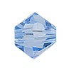 Swarovski 5328 XILION Faceted Bicone, 8mm, Light Sapphire