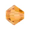 Swarovski 5328 XILION Faceted Bicone, 8mm, Topaz