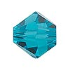 Swarovski 5328 XILION 8mm Faceted Bicone, Blue Zircon