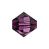 Swarovski 5328 6mm Xilion Faceted Bicone, Amethyst
