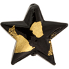 Black Tosca Gold Foil 30mm Star Murano Glass