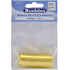 Beadalon Memory Wire Round, Rings, Gold Plated Color, .5 oz