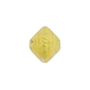 Crystal Gold Foil Bicone 12x 14mm Murano Glass Bead