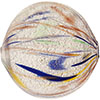 Antique Stains Blown Murano Glass Bead Ball 40mm