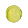 Blown Murano Glass Round Gold Foil 20mm, Peridot