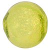 Blown Murano Glass Round Gold Foil 30mm, Peridot