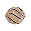 Black/White Blown Penny Double Layer AV 20mm