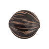 Black Blown Murano Glass Flat Round Bead, Double Layer, 25mm
