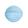 Aqua Blown Murano Glass Flat Round Bead, Double Layer, 25mm