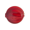 Red Blown Murano Glass Flat Round Bead, Double Layer, 25mm